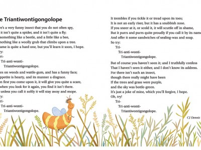 The triantiwontigongolope-from the book Windy Nights and Other Poems