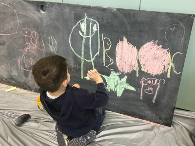 Blackboard drawings at Diamond Valley Library